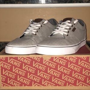 Men's Vans size 9 gray/white, Only wore once!!!